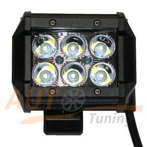 Светодиодная балка 6 LED, 100×75 (мм), дальний свет, 18W, Cree™, 1 шт, PT-50U