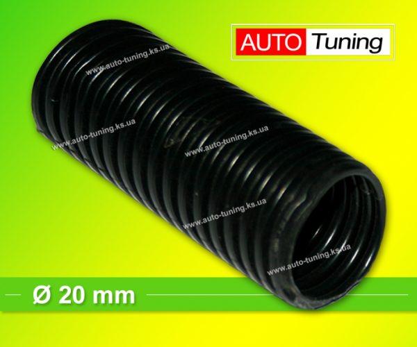 Гофра пластиковая изоляционная для автомобильной проводки, Ø 20 mm, Black