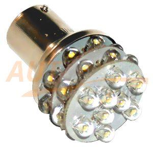 Светодиодная лампа белого света, 27 LED, BA9S, DC 12V, LW-1156/27L