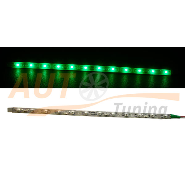 Отрезок светодиодной ленты зеленого цвета 12 LED, DC 12V, Green, GL-567.5.40