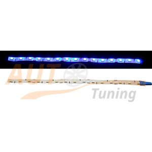 Отрезок светодиодной ленты синего цвета 15 LED, DC 12V, Blue, BL-569.0.40