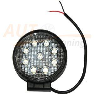 Светодиодная балка 9 LED, Ø155 мм, ближний свет, 27W, COB, 12V, 1 шт, M-604T