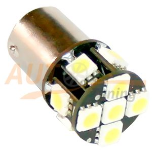 Светодиодная лампа белого света, 11 LED, BA9S, DC 12V, LW-1156/11