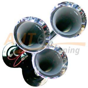 Звуковой воздушный сигнал для фуры под компрессор 3 дудки металл, ER-873