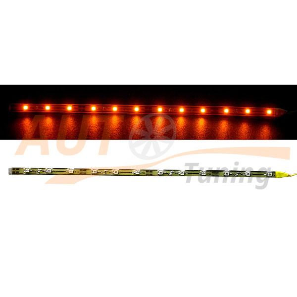 Отрезок светодиодной ленты оранжевого цвета 12 LED, DC 12V, Orange, 0L-563.12.4