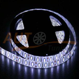 LED лента белого цвета на метраж, DC 12-24V, White, SMD-5630-60LED-ip65