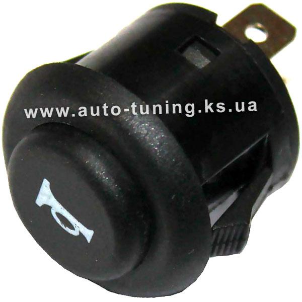 Кнопка коммутации сигнала, круглая Ø 22 mm, 12-24V