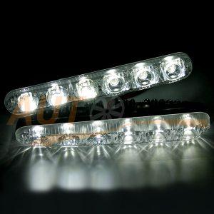 MARSHAL - Фары дневного света (ДХО) 6 LED × 2 шт, HDX-006A-12V