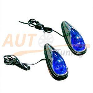 Голубая подсветка салона, автомобильное освещение, 2 шт, Blue