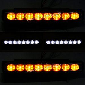 Дневные ходовые огни (ДХО) c дублером поворота DC 12V, 8 LED × 2 шт, W/O, SM-8