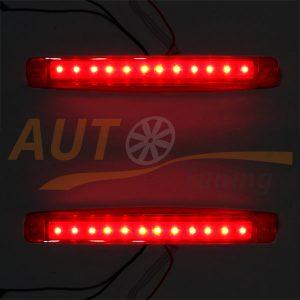 Универсальные красные LED огни на грузовик, DC 24V, 2 шт, Red