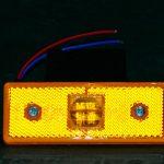 Оранжевый боковой габаритный фонарь, LED DC 12-24V, 1 шт, OT-342