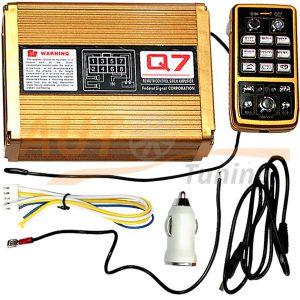 СГУ 200 вт, 12 режимов сигнала, беспроводное управление пультом, подключение стробоскопа и мигалки, Q7-V9