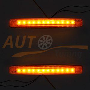 Универсальные оранжевые LED огни на грузовик, DC 24V, 2 шт, Orange, SM-12O/24