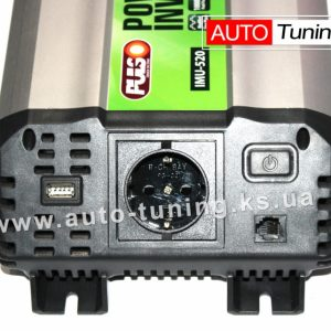 Автомобильный инвертор напряжения 500W, 12V/220V, USB 5V/2A, IMU-520