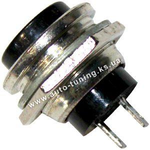Круглая кнопка для управления нагрузкой без фикс. положения, Ø12 mm, Black