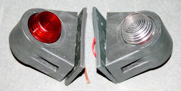 Габаритные огни типа «Уши» LED DC 12-24V, Красный, Белый, 2 шт, SH-158