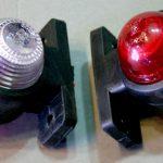 Габаритные огни типа «Уши» LED DC 12-24V, Красный, Белый, 2 шт, SH-160