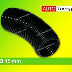 Гофра пластиковая изоляционная для автомобильной проводки, Ø 15 mm, Black