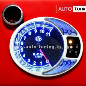 Тахометр спортивный с выносной Shift лампой, Ø 125 мм*, Blue, 7215 BL