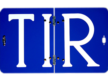 Таблица HICO для длинномера RF70.01, знак автопоезда TIR