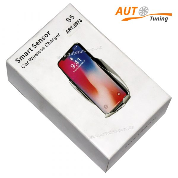Держатель для телефона HOLDER S5 / 5373 Wireless charge + Sensor