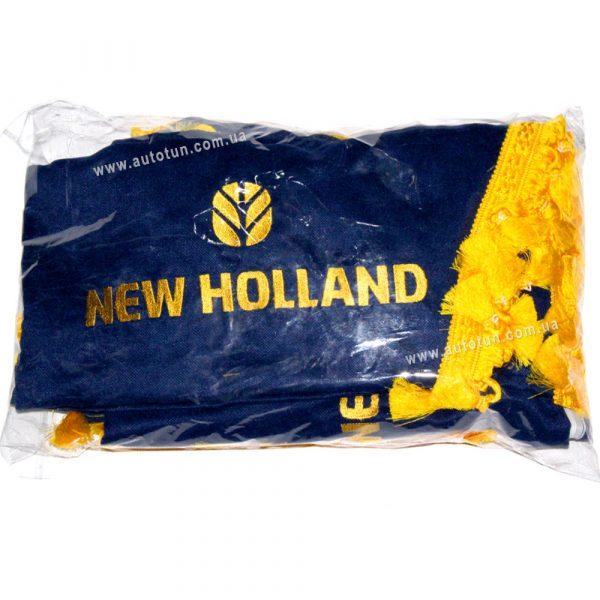 Полный комплект шторок в кабину комбайна, Blue, 1+4, NEW HOLLAND