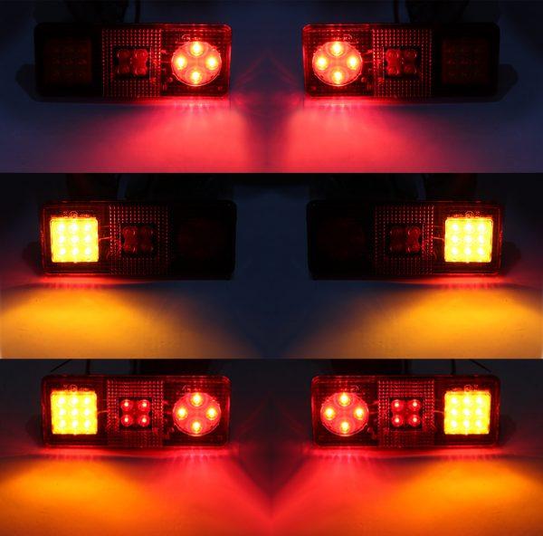 LED СТОП-сигналы на прицеп с дублером поворота, 220×90 (мм), PRC-9703