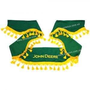 СOMFORT - Комплект шторок в кабину комбайна, Green, 1+2, JOHN DEERE