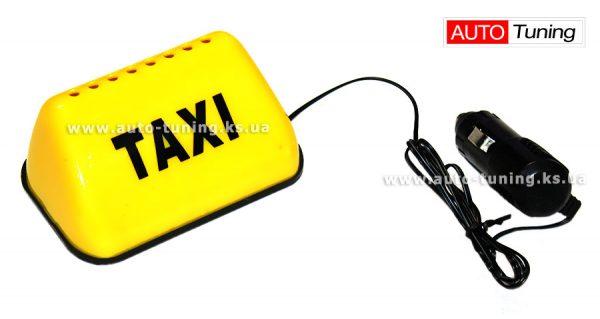 Сувенир, декоративный фонарик на торпедо «Шашка такси», TAXI, 12V, Yellow