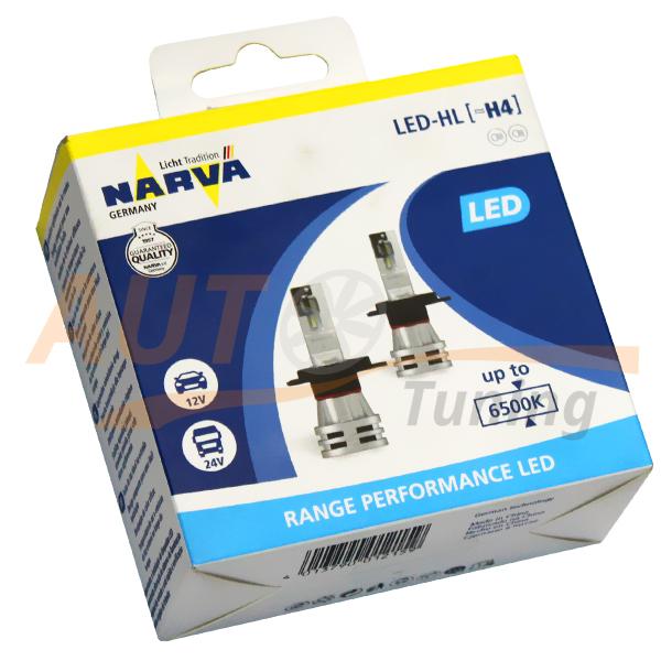 Автомобильные лампы Narva, LED DC12-24V, 24W, H4, New Range Performance 6500K, 2 шт, NV 18032 RPNVA X2