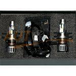 Комплект автомобильных ламп Michi, LED DC12-24V, Hi/Low 5500K, H4, 2 шт