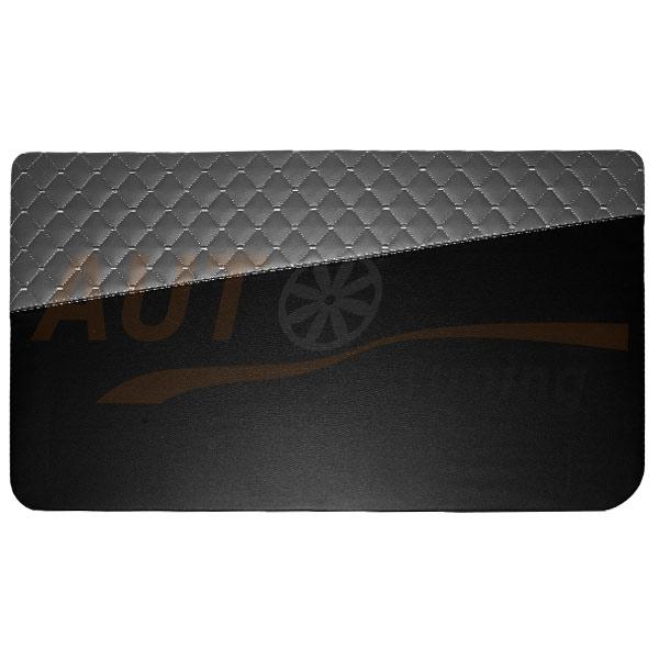 Накладки на двери из экокожи, карты на ВАЗ 2101-07, черно-серый, 2+2