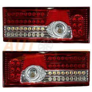 Тюнингованные LED СТОП-сигналы на ВАЗ 2108-09-099, Red & Chrome, 2 шт, CXP-1125R