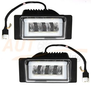Противотуманные LED-фары c ДХО на ВАЗ 2110-11-12, 2шт, White, ВE-6001W
