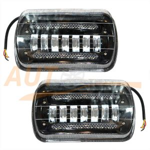 Противотуманные LED-фары c режимом ДХО на ВАЗ 2110-11-12, 2шт, White, EE-7007W