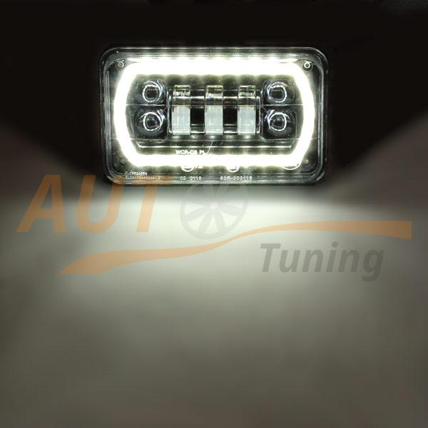Универсальные противотуманные LED-фары, ангельские глазки, дублер поворота, 2шт, EE-7007W/Y