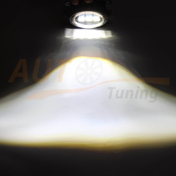Универсальные противотуманные LED-фары, дублер поворота, ангельские глазки, 2 шт, KG-R30J40-1